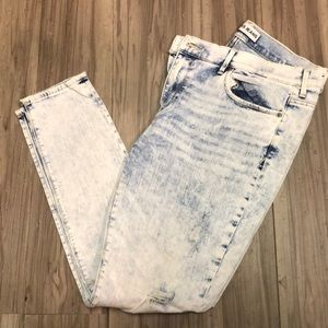 Acid wash express MIA mid rise leggings jeans